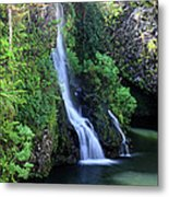 Road To Hana Waterfall Metal Print by Pierre Leclerc Photography