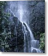 Road To Hana Waterfall Metal Print
