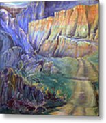Road To Rainbow Gulch Metal Print