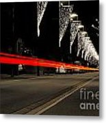 Road With Lights Metal Print