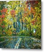 Roadway After The Rain  Metal Print