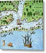 Roanoke Landing, 1585 Metal Print
