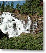 Roaring Falls Glen Alpine Falls Metal Print
