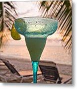 Roatans West Bay, Tropical Drink Metal Print