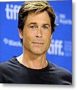 Rob Lowe At The Press Conference Metal Print