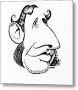 Robert Fitzroy, Caricature Metal Print by Gary Brown