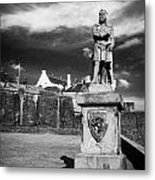 robert the bruce statue at stirling castle Scotland UK Metal Print