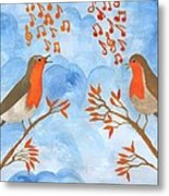 Robin Singing Competition Metal Print