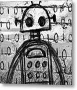 Robot Graffiti 2 Of 6 Metal Print
