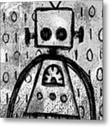 Robot Graffiti 4 Of 6 Metal Print
