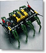 Robot Spider Constructed From Lego Metal Print
