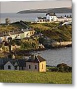 Roches Point Lighthouse In Cork Harbour Metal Print