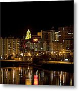 Rochester By Night Metal Print
