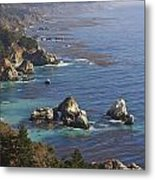 Rock Formations Along The Coast Big Sur Metal Print