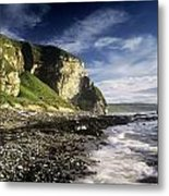 Rock Formations At The Coast Metal Print