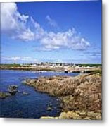 Rock Formations At The Coast, Tory Metal Print