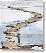 Rock Lake Crossing Metal Print