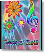 Rock Music Poster Metal Print