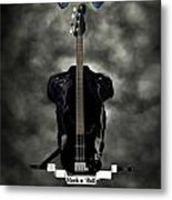 Rock N Roll Crest-the Bassist Metal Print by Frederico Borges