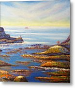 Rock Pools At North Beach Wollongong Metal Print