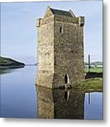 Rockfleet Castle On Clew Bay, County Metal Print