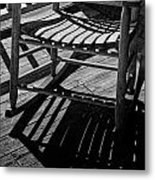 Rocking Chair Lit By The Afternoon Sun Metal Print