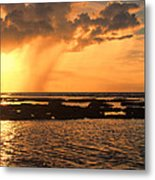 Rockpool Sunset Metal Print