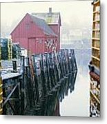 Rockport Harbor And Cages Metal Print