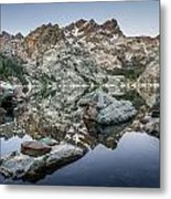 Rocks And Reflections Metal Print