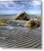 Rocks And Sand Metal Print