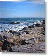 Rocks And The Ocean Metal Print