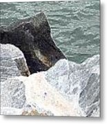 Rocks Chessapeake Bay Digital Metal Print