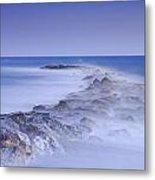 Rocks Fighting Against The Waves Metal Print