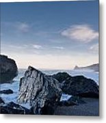 Rocks Of Dry Lagoon Metal Print
