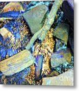 Rocks Of Gold Metal Print