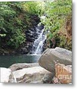 Rocks Of The Falls Metal Print