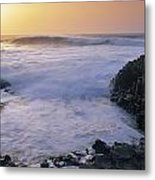 Rocks On The Beach, Giants Causeway Metal Print