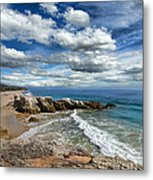 Rocky Coast In Malibu California Metal Print