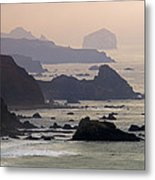 Rocky Headlands On The Big Sur Coast Metal Print