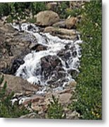 Rocky Mountain Falls Metal Print