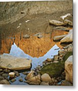 Rocky Mountain Peaks Are Reflected Metal Print