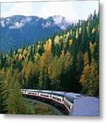 Rocky Mountain Rail Tours, Jasper Metal Print