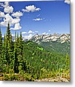 Rocky Mountain View From Mount Revelstoke Metal Print