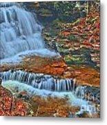 Rocky Pool Falls Metal Print