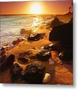 Rocky Shoreline In Hawaii Metal Print