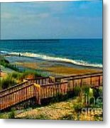 Rodanthe On The Outer Banks Metal Print by Julie Dant