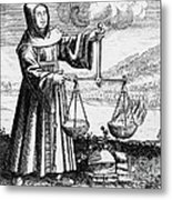 Roger Bacon Conducting An Experiment Metal Print