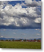Rogue Valley Red Roof Farm Metal Print