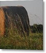Rolled Bales Of Hay Metal Print