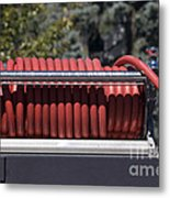 Rolled Fire Hose Metal Print